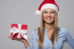 Christmas business woman Stock Photos