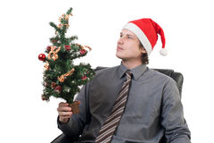Christmas Businessman Royalty Free Stock Photo