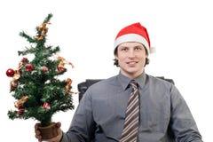 Christmas Businessman Royalty Free Stock Image