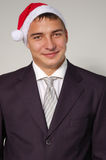 Christmas businessman handsome happy Stock Photos