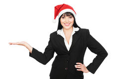 Christmas businesswoman Stock Photo