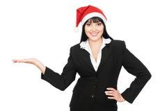 Christmas businesswoman Stock Photo