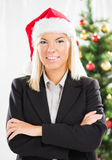 Christmas businesswoman Royalty Free Stock Images