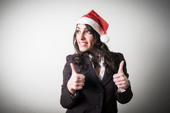 Christmas businesswoman smiling positive Royalty Free Stock Image