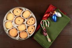 Christmas butter cookies Stock Photos