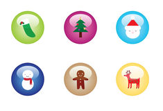 Christmas Button Set Royalty Free Stock Images