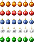 Christmas buttons Stock Photos