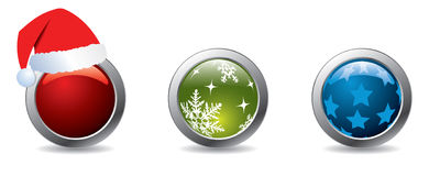 Christmas buttons Stock Images