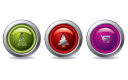 Christmas buttons 2 Royalty Free Stock Photography
