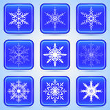 Christmas buttons vector set Royalty Free Stock Images