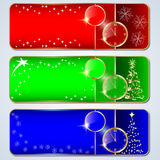 Christmas buttons vector set Stock Photos