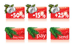 Christmas buttons for your website. In editable format Vector Illustration