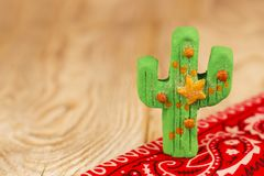 Christmas cactus background Royalty Free Stock Photography