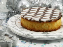 Christmas cake stock images