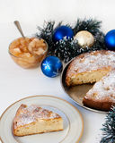 Christmas cake. With the decorations Royalty Free Stock Images