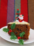 Christmas Cake. Santa on a Christmas carrot cake Stock Image