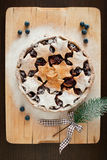 Christmas cake Stock Photography