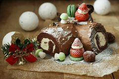 Christmas Cake. It's a Christmas cake. I made it myself Royalty Free Stock Photography