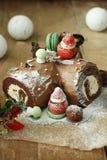 Christmas Cake. It's a Christmas cake. I made it myself Stock Photo