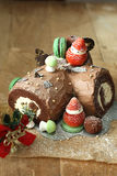 Christmas Cake. It's a Christmas cake. I made it myself Stock Photos