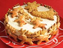 Christmas cake Royalty Free Stock Images