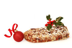 Christmas Cake and Bauble Stock Photography