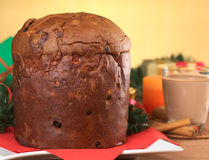Christmas Cake Called Panettone royalty free stock images