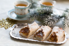 Christmas cake with cheese cream Stock Photography