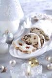 Christmas cake and cookies Stock Image