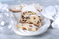 Christmas cake and cookies Royalty Free Stock Photo