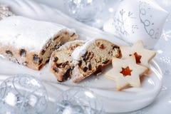 Christmas cake and cookies Stock Photography