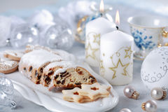 Christmas cake and cookies Royalty Free Stock Photography