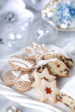 Christmas cake and cookies Royalty Free Stock Image