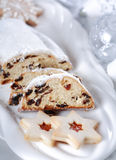 Christmas cake and cookies Royalty Free Stock Photos