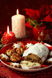 Christmas cake and cookies Stock Photos