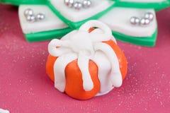 Christmas cake decoration Royalty Free Stock Photography
