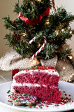 Christmas cake and decoration Royalty Free Stock Images