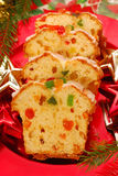 Christmas cake with dried fruits Stock Image