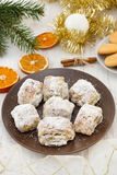 Christmas cake with dry orange Royalty Free Stock Photography