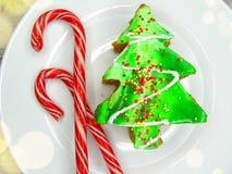 Christmas tree cake sweet festive dessert food Stock Photo