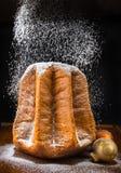 Christmas cake pandoro. Royalty Free Stock Image