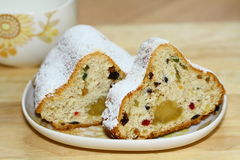 Christmas cake with marzipan Royalty Free Stock Photography