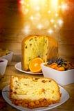 Christmas cake (panettone) Stock Image