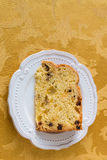 Christmas cake panettone. Stock Photos