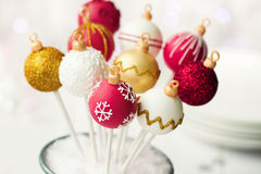 Christmas cake pops Stock Image