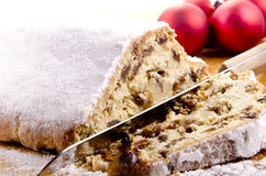 Christmas cake with raisins Stock Photo