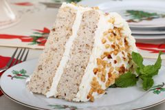 Christmas Cake Slice Royalty Free Stock Photo