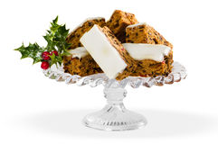Christmas Cake Slices Stock Photo