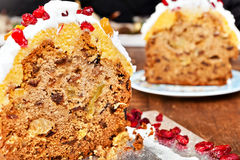 Christmas cake slices Stock Images