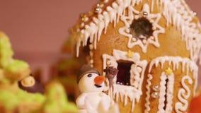 Christmas cake stock video footage